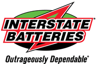 Interstate Batteries Outrageously Dependable Logo